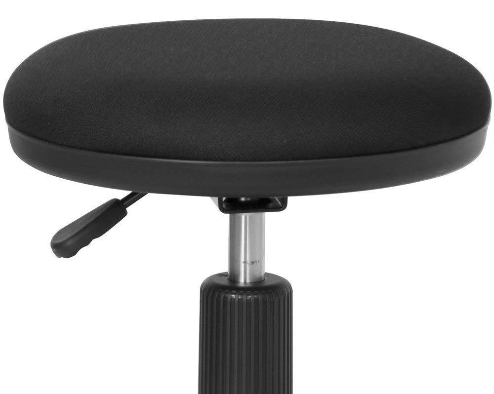 2 Set, Black Flash Furniture Black Ergonomic Stool with Foot Ring