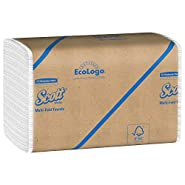Scott Multifold Paper Towels (01804) with Fast-Drying Absorbency Pockets, White, 250 Multifold Towels