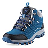 Misscoo Casual Outdoor Block Color Lace Up Hiking Sports Shoes for Women Blue