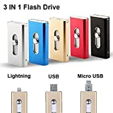 256GB U-Disk Memory Stick Pen Drive for Computer, iPhone & iPad Series and Android Smart Phone Series - Gold