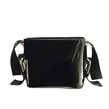 a3073a66f46a Gotd Womens Girls Leather Wide Strap Bucket Crossbody Shoulder Bag Wallet Mini  Purse Leather Card Holder