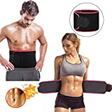 Waist Trimmer, Premium Weight Loss Ab Belt for Men & Women Workout Sweat Enhancer Exercise Adjustable Wrap for Stomach Enjoy Sweet Abdominal Muscle & Back Support