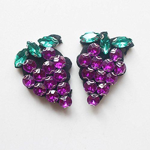 de Pull Fruits Strass Pinkdose Coration Perl Raisin D Vintage Mode e Patch de Appliques Paillettes Manteau Patchs tOqUBUx