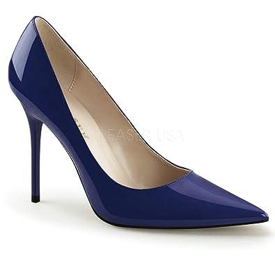 07b8bf6918f89 Pleaser Womens CLASSIQUE-20/NB Pump Blue
