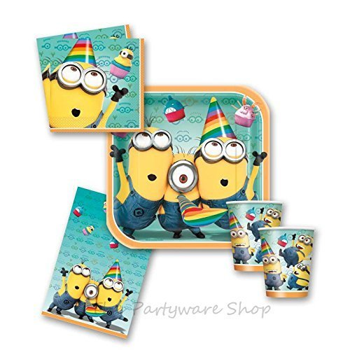 Despicable Me 2 Minions Party Tableware Pack for 16 by The Partyware Shop