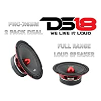(2) DS18 PRO-X6BM 1200W 6.5 Midrange Full Range Speakers Loud Bullet 8 Ohm