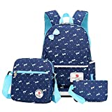 Lilimay Polka Dot 3pcs Kids Book Bag School Backpack Handbag Purse Girls Teen