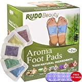 Otc Cleansing Tea - Foot Pads | Rudo Beauty | 100% Natural, Premium Ingredients | Aromatherapy & Body Relief | Apply, Sleep, Feel Better | 30 Pcs | Upgraded 2in1 New Design
