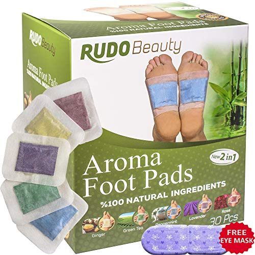 (Foot Pads by Ru-do Beauty | 30 Pcs | Aromatherapy & Body Relief Pads | All Natural & Premium Ingredients | Apply, Sleep & Feel Better | Upgraded 2in1 Design)