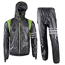 ROCKBROS Cycling Rain Suits Jacket Hooded and Pants with Reflective Strips