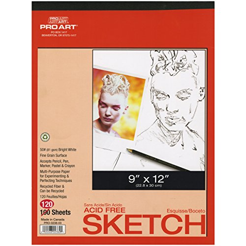 Pro Art 9-Inch by 12-Inch Twin Pack Sketch Paper Pad