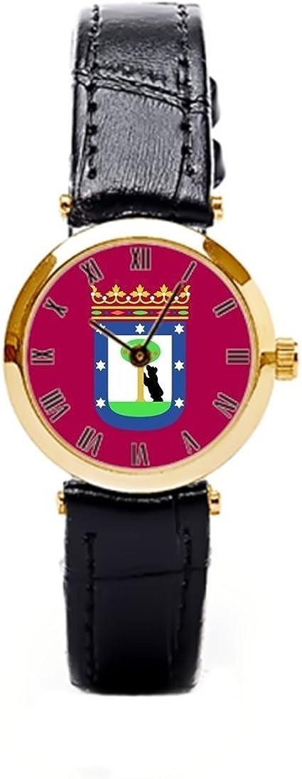 cnbluer Relojes de Bandera de Madrid España (Ciudad): Amazon.es: Relojes