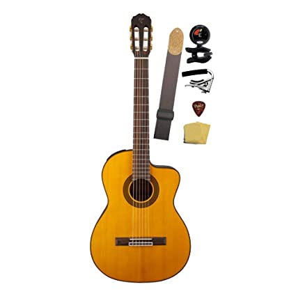Amazon.com: Takamine GC5CE-NAT Acoustic-Electric Classical Cutaway Guitar Bundle, Natural: Musical Instruments