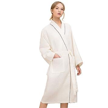 MILAYA JI Bin Shop® Albornoz Pareja Modelos Poliéster Toalla De Algodón Confort Pijamas Primavera Y