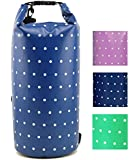 Premium Waterproof Dry Bag for Beach, Boating, Camping, Hiking, Swimming, Kayaking, Canoeing - Protects Clothes, Gear, Electronics from Water with Black Shoulder Strap, Great Gift by Tuvizo - 10L, 20L