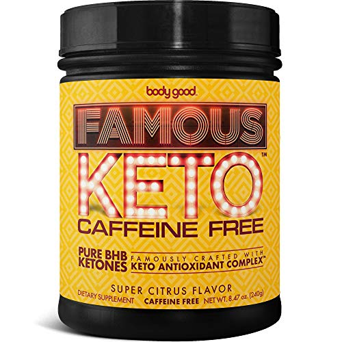 Famous Keto™ BHB Salts. Pure Exogenous Ketones with Antioxidant Complex™ for Maximum Energy, Focus, Performance, Craving Control. Delicious Natural Citrus Flavor (Caffeine Free)