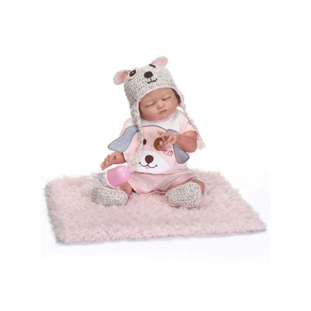 Bambole Reborn, Bambola Reborn Baby Bambola realistica Baby Dolls Reborn Babies Girl Soft Baby Doll, 50 cm-rosa (può Andare in Acqua)