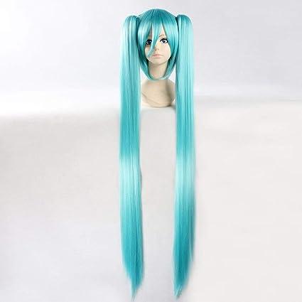 HOOLAZA Peluca recta extra larga azul cielo Vocaloid Hatsune ...