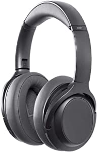 Monoprice BT-600ANC Bluetooth Over Ear Headphones with Active Noise Cancelling (ANC), Qualcomm aptX HD Audio, AAC, Touch Controls, 40hr Playtime