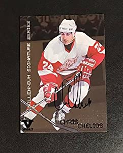 Chris Chelios Auto 1999-00 BAP Red Wings 2015-16 ITG Final Vault #91