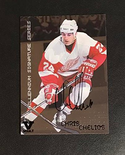 Chris Chelios Auto 1999-00 BAP Red Wings 2015-16 ITG Final Vault (Chris Chelios Hockey)