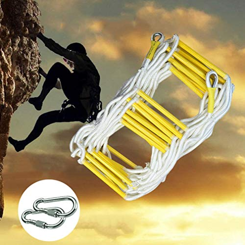 Rope Ladder Tree House Rope Ladder Resin High-Rise Safety Escape Rope Ladder Outdoor Training Rope Ladder (Color : A, Size : 5M)