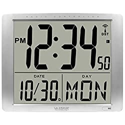 La Crosse Technology BBB87269 20 Inch Extra Large Digital Atomic Wall Clock