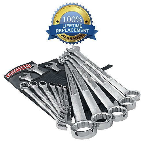 Deluxe Combination Wrench Set (Craftsman 14 Pc. Metric 12 Pt. Combination Tool Wrench / Spanner Set with Deluxe Roll Pouch - Backed By Our Lifetime Replacement Guarantee!!!)
