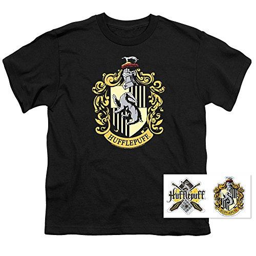 Popfunk Harry Potter Hufflepuff Logo Youth T Shirt (X-Large)