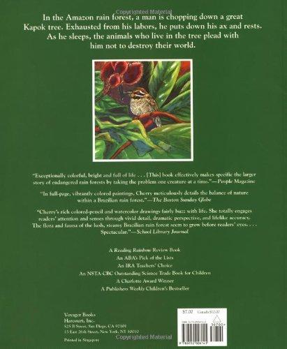 the great kapok tree a tale of the amazon rain forest lynne cherry 9780152026141 amazon com books