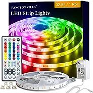 Led Lights Strip for Bedroom, 32.8ft RGB 5050 Led Lights for Bedroom, Room, Kitchen, Home Decor DIY Color Led