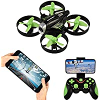 RC Quadcopter with HD Wifi FPV Camera,APP Voice Control RC Drone with Altitude Hold, Gravity Sensor and Headless Mode RC Helicopter 2.4GHz 4 Channel 6 Axis Gyro