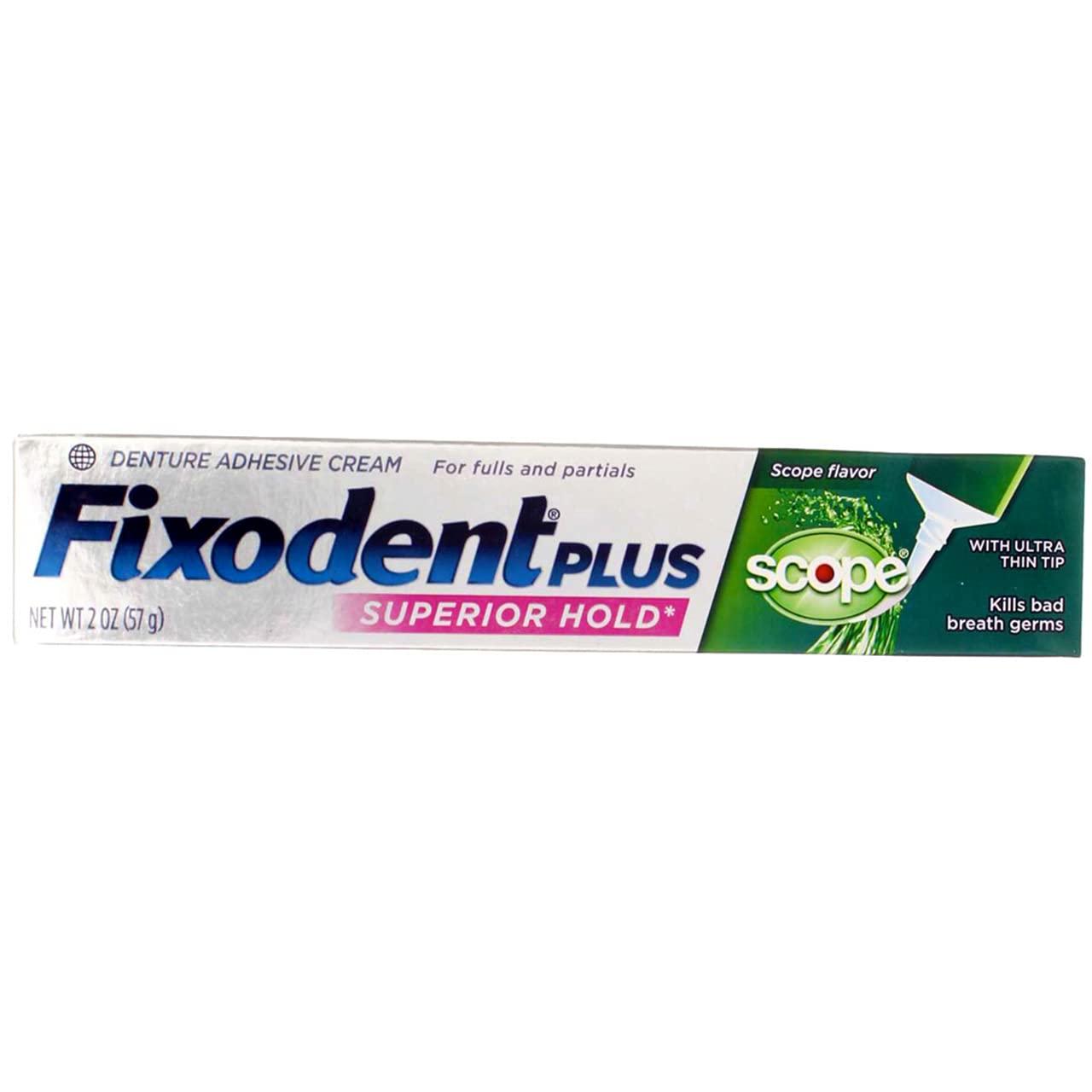 Fixodent Control Denture Adhesive Cream Plus Flavor Scope, 2 Ounce