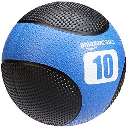 AmazonBasics Double Grip Type Medicine Ball, 10-lb