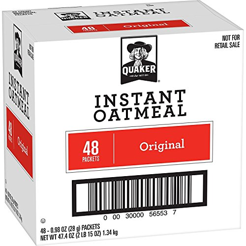 (Quaker Instant Oatmeal, Original, 48 Count, 0.98 oz Packets)