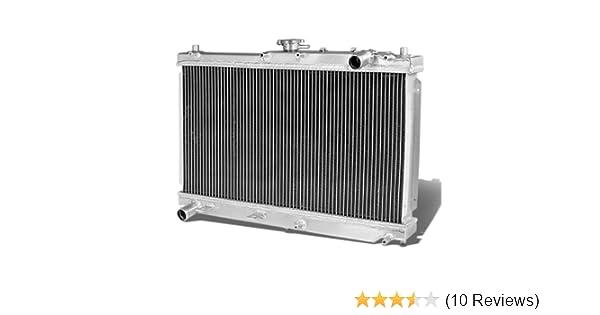 FOR 98-05 MIATA MX-5 NB ALUMINUM DUAL-ROW//CORE RADIATOR+BLACK COOLING FAN SHROUD