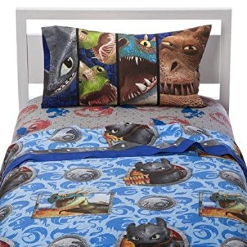 Amazon how to train your dragon 2 twin size sheet set home how to train your dragon 2 twin size sheet set ccuart Gallery
