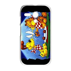 Cartoon Garfield For Cell Phone Case Motorola G White Case Cover W13W7037905
