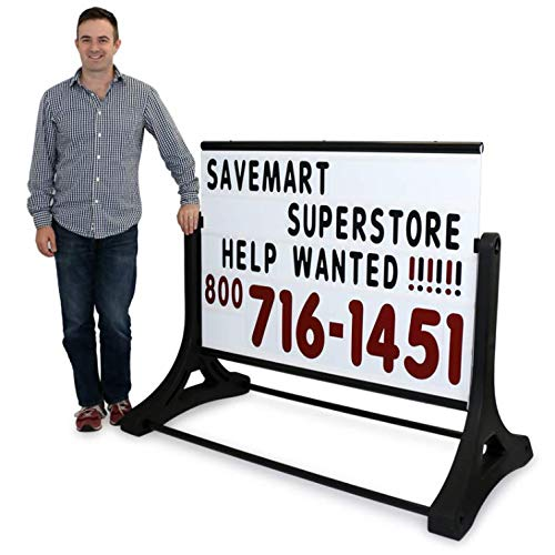 SmartSign Deluxe Swinger Changing Message Sidewalk Sign and Letter Kit | 48' x 60