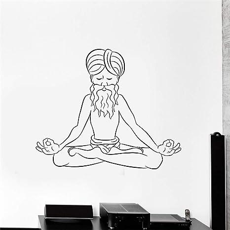 pegatina de pared pegatina de pared 3d Meditación antigua ...