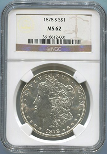 1878 S Morgan Dollar Dollar MS62 NGC