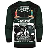 FOCO New York Jets Ugly 3D Sweater - Mens Double Extra Large