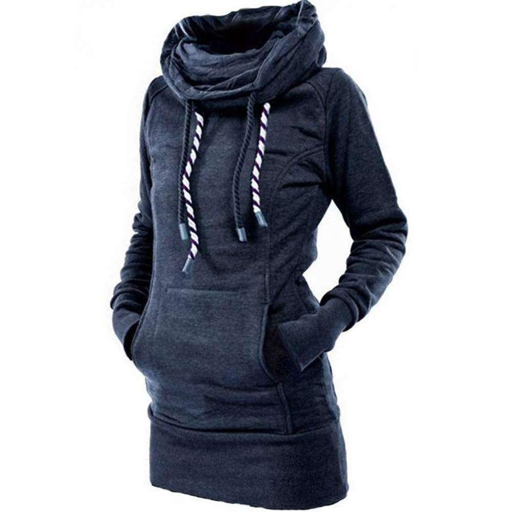 Damen Mode Herbst Winter Volle Hü lse Einfarbig Kordelzug Hoodies Tasche Langes Hemd Elegantes Sternchen Muster Tops Straß e Outdoor Schule Pullover