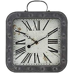 Westclox NYL37006 13.75 Metal Pocket Watch Wall Clock Silver