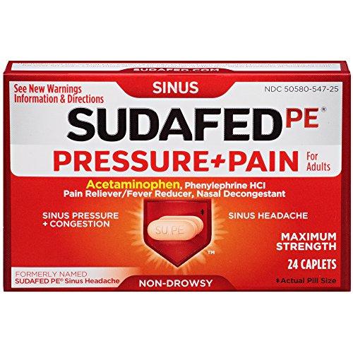 sudafed pe pressure + pain - 1