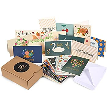 Amazon 48 pack assorted all occasion greeting cards includes 36 pack assorted all occasion greeting cards includes assorted happy birthday congratulations sympathy hello thank you cards bulk box set variety m4hsunfo