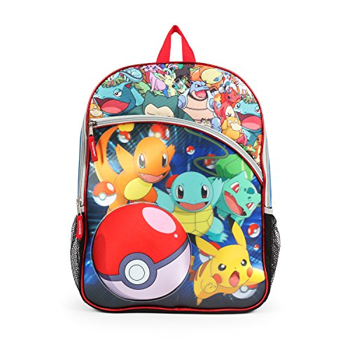(Pokemon 3D Holographic Pokeball Multi Character Backpack School)