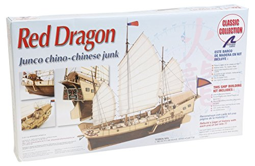 Artesania Latina 18020 1/60 Red Dragon Chinese Junk Model Building (Artesania Latina Model Ships)