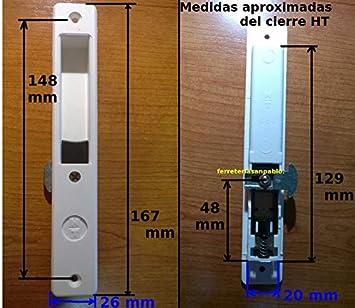HT 1 Recambio Cierre corredera para Ventanas y Puertas Blanco