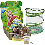 """Insect Lore Giant Butterfly Kit: Deluxe 18"""" Habitat, Voucher For 5 Caterpillars, Butterfly Play Set"""